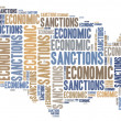 Tag cloud illustration related to economic sanctions — Stock Photo #50416305