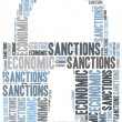 Tag cloud illustration related to economic sanctions — Stock Photo #50416307
