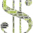 Tag cloud illustration related to economic sanctions — Stock Photo #50416389