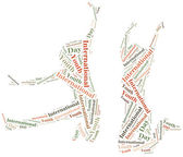 Word cloud illustration related to International Youth Day — Foto Stock