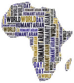 Word cloud illustration related to humanitarian aid — Stock Photo