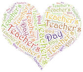 Word cloud illustration related to Teacher's Day — Stock Photo