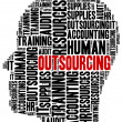 Outsourcing in business. Word cloud illustration concept. — Stock Photo #51583509