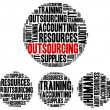 Outsourcing in business. Word cloud illustration concept. — Stock Photo #51583513