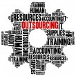 Outsourcing in business. Word cloud illustration concept. — Stock Photo #51583519