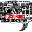 Outsourcing in business. Word cloud illustration concept. — Stock Photo #51583525