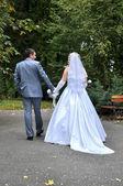 La sposa e lo sposo — Foto Stock