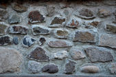 Bright ancient wall with bricks and stones background. — Stock Photo