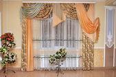 Hermosas cortinas de la ventana — Foto de Stock