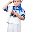 Boy in a sailor suit — Stock Photo