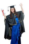 Ženské absolvent — Stock fotografie
