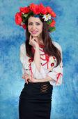 украинский национальный костюм девочка — Стоковое фото