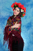Girl Ukrainian national costume — Foto de Stock