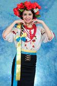Girl Ukrainian national costume — Stock fotografie