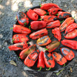 Stock Photo: Peppers on stove