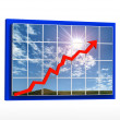 Rising graph — Stock Photo #13400227