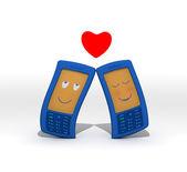 Mobile love — Stock Photo