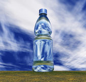 Fles water — Stockfoto