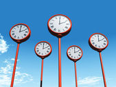 Street clocks — Stock Photo