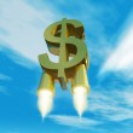 Money symbol with rocket nozzles — Stock Photo #13832384