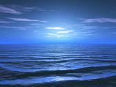 The moon light on the sea — Stock Photo