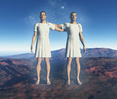 символическое представление знака близнецы — Стоковое фото