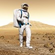 Man exploring Mars — Stock Photo