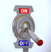 Switch Off — Stockfoto