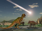 Asteroid that wiped out the dinosaurs — Stock Photo