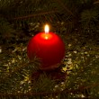 Red, spherical candle — Stock Photo #14492581