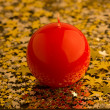 Stock Photo: Red, spherical candle