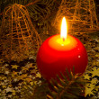 Royalty-Free Stock Photo: Red, spherical candle