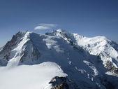 Blick auf die alpen vom aiguille du midi — Stockfoto
