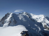 View of the Alps from Aiguille du Midi — Stock Photo