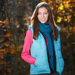 Autumn girl smiling — Stock Photo #13892992