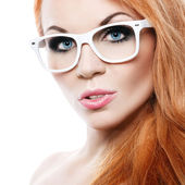 Beautiful woman with glasses — Stock Photo