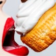 Stock Photo: Glamour,valentines,passionate lips