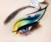 Eye close up with beautiful make up — Stock Photo