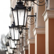 Stock Photo: Antique street lights row