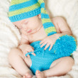 Funny sleeping infant — Stock Photo