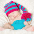 Stock Photo: Funny sleeping infant