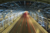 Modern tunnel and traffic — Stock Photo