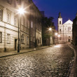 The street of the old town in Warsaw at night — Stock Photo #32021501