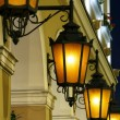 The historic street lights at night  — Stock Photo