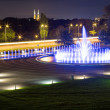 The illuminated fountain at night — Stock Photo