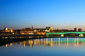 Warsaw by night — Stock Photo