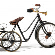 Old bike in retro style — Stock Photo