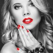 Portrait of beautiful womwith red lips — Stock Photo #35795081