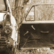 Stock Photo: Wreck of old car