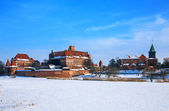 Teutonic Castle in Malbork winter.World Heritage List UNESCO. — Stock Photo